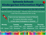 Kindergarten Information Nights