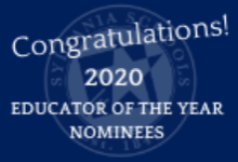 2020 Educator of the Year Nominations