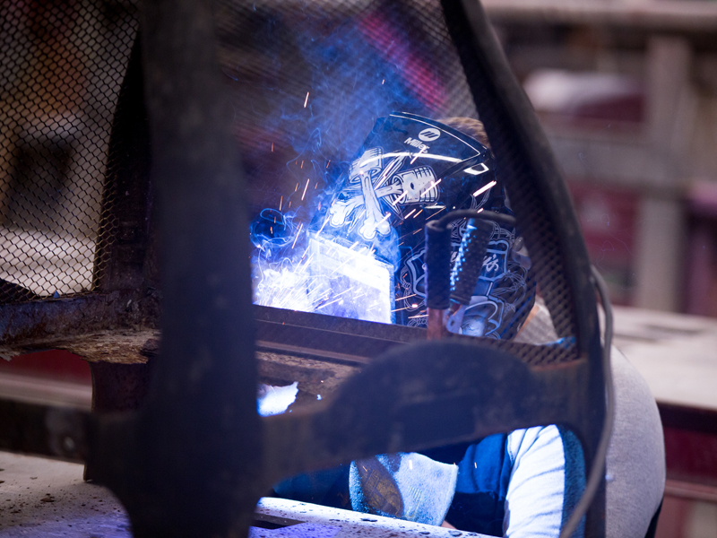 Southview student welding