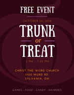 Trunk or Treat October 26