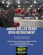 Jr Roller Derby flyer - details in description
