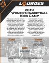 Lourdes Women's Basketball kids camp- details in flyer