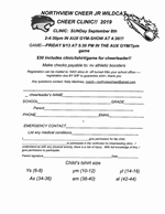 Embedded Image for: Northview Jr Wildcat Cheer Clinic (20198199570645_image.png)
