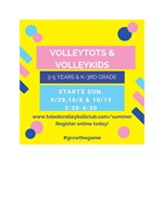 Embedded Image for: Fall Volleyball Opportunities for Youth (3yrs- 6th gr) (201991910246310_image.jpg)