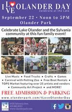 I Love Olander Day flyer - details in event description
